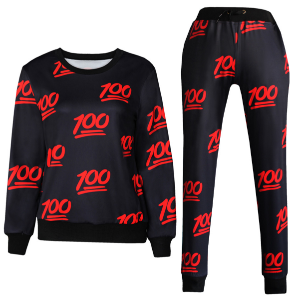 100 Limited Edition Emoji Set Joggers And Sweatshirt Black Emoji Joggers Black Sweatshirts Hoodies Womens