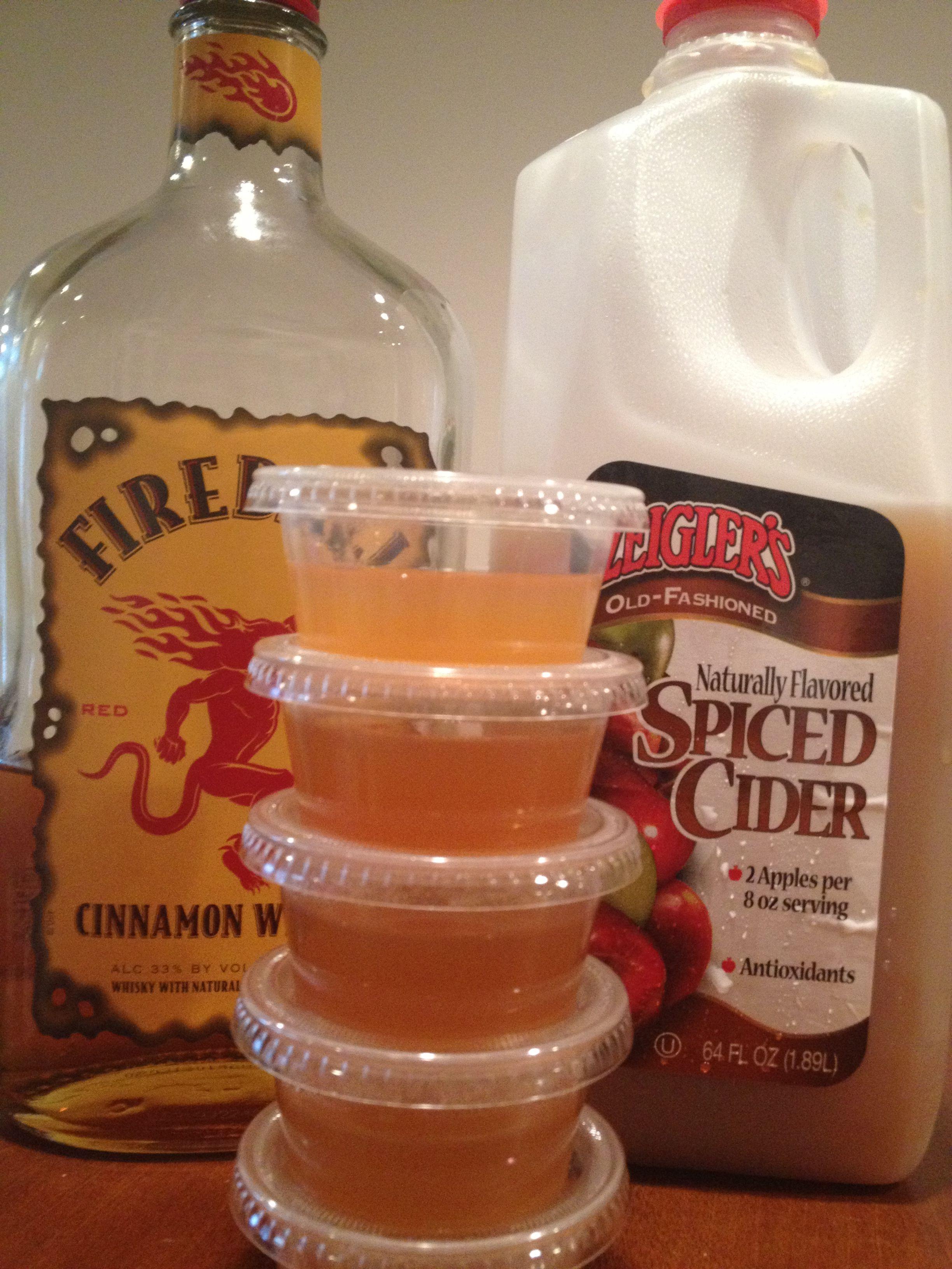 Fireball Cider Jello Shots 1 Cup Fireball 1 Cup Apple Cider 1 12