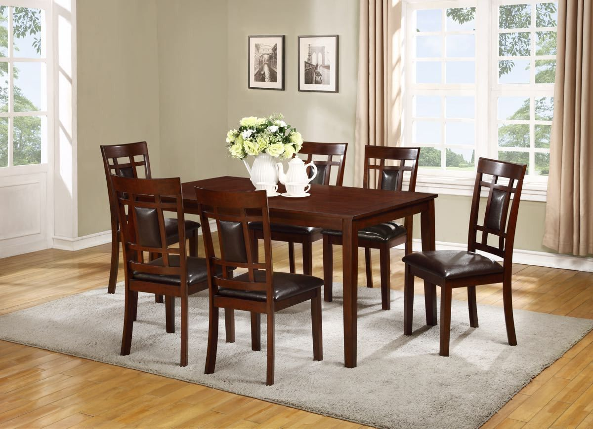 Formal dinner table decorations lifestyle espresso dining table and  chairs  products  pinterest