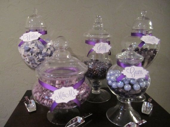 Purple Candy Buffet Ideas Purple Wedding Candy Buffet Accessories