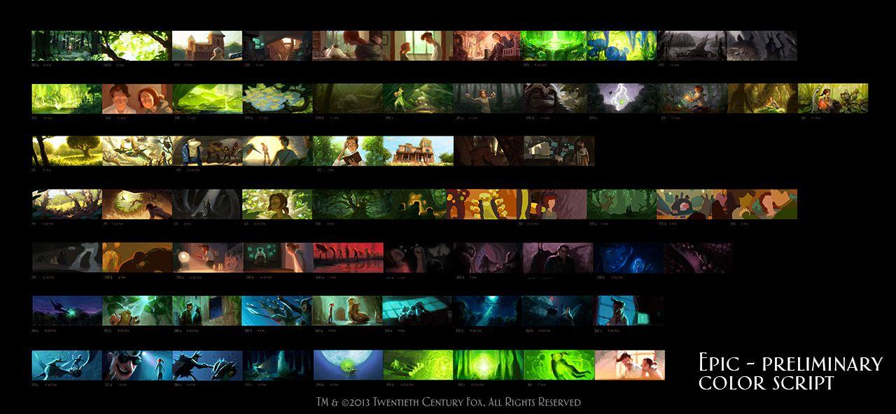 Michael Knapp Story Art Pinterest Color script, Visual - script storyboard