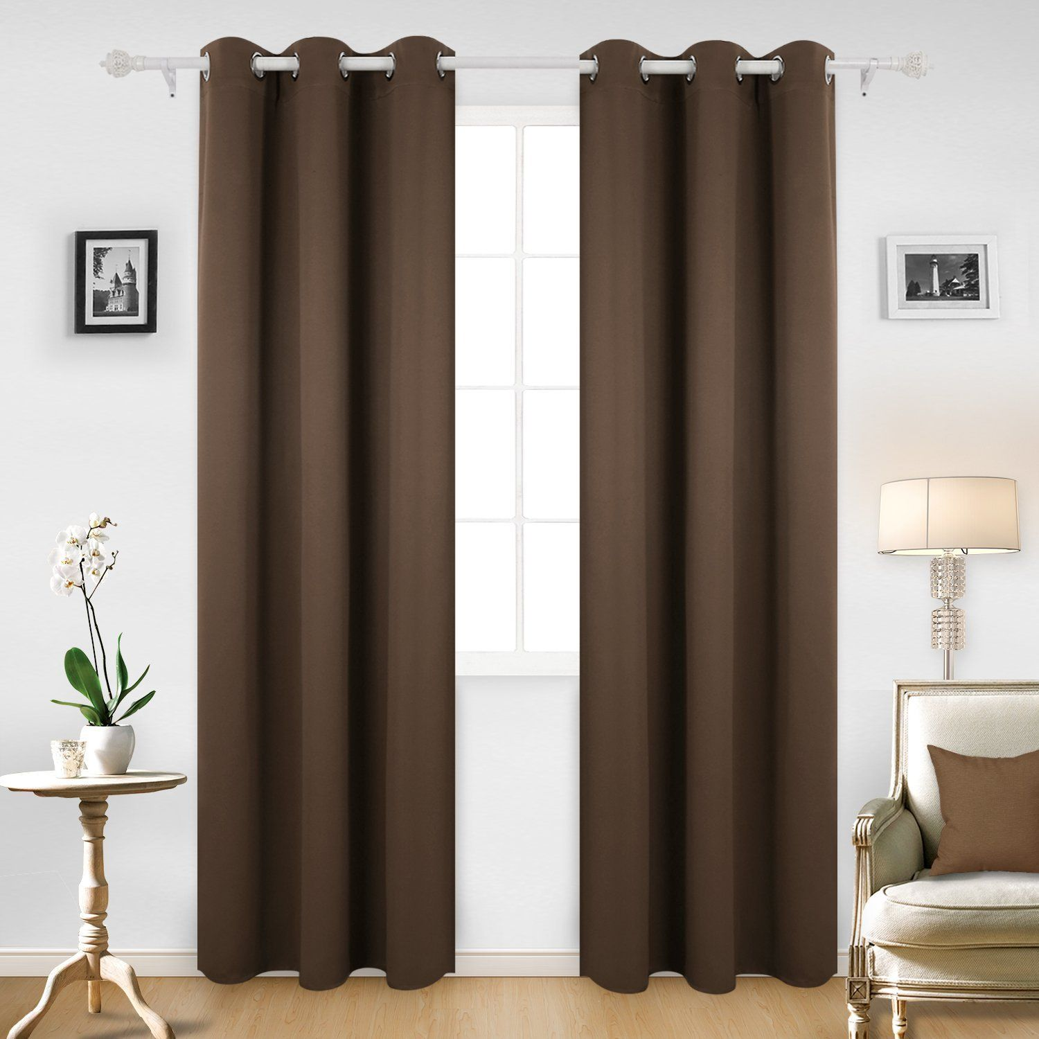 Nursery window ideas  deconovo room darkening thermal insulated blackout grommet window