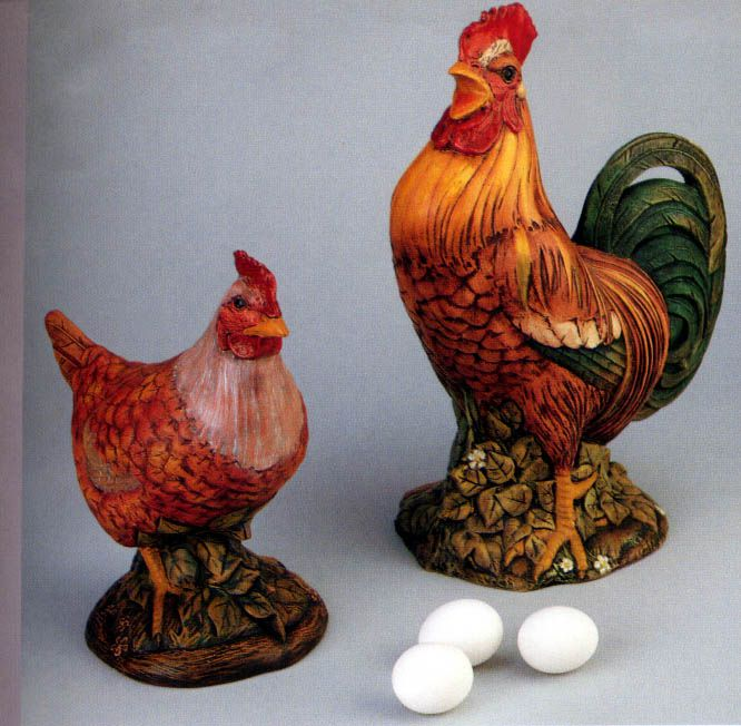 ELegant Rooster Chicken *Ceramic Bisque Ready to Paint
