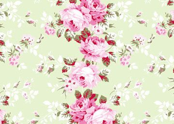 Rachel Ashwell Shabby Chic Fabric Yard Rose Trellis On SAGE Poplin Cabbage Roses Raspberry By Softplacetoland