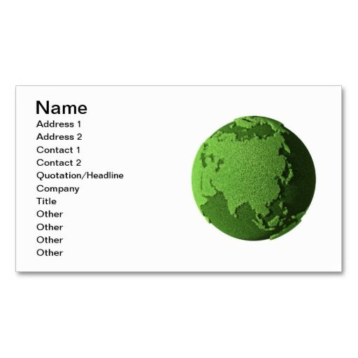 Grass globe asia business card green business business cards grass globe asia business cards make your own business card with this great design all you need is to add your info to this template reheart Images