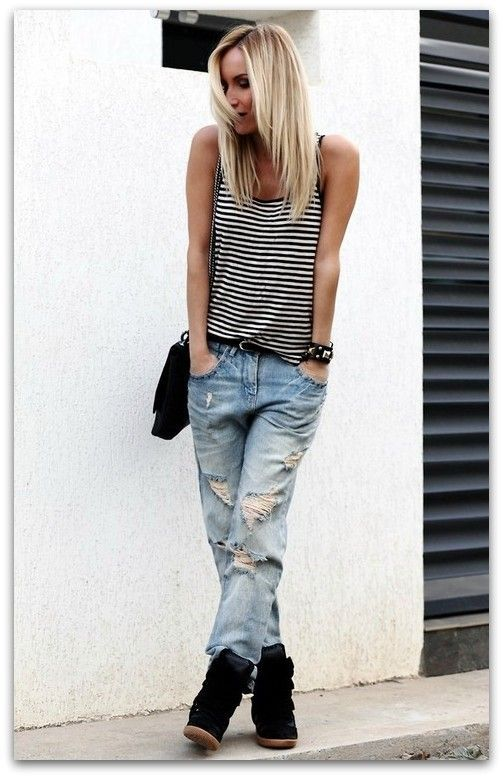 Boyfrend jeans and Isabel Marant