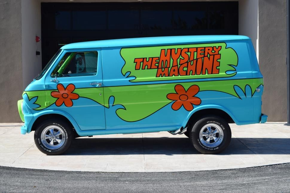 Bizarre car of the week 1972 ford econoline mystery machine econoline pinterest - Voiture de scoubidou ...