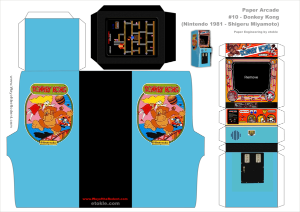 donkey kong arcade template by austinmeadows on deviantart games