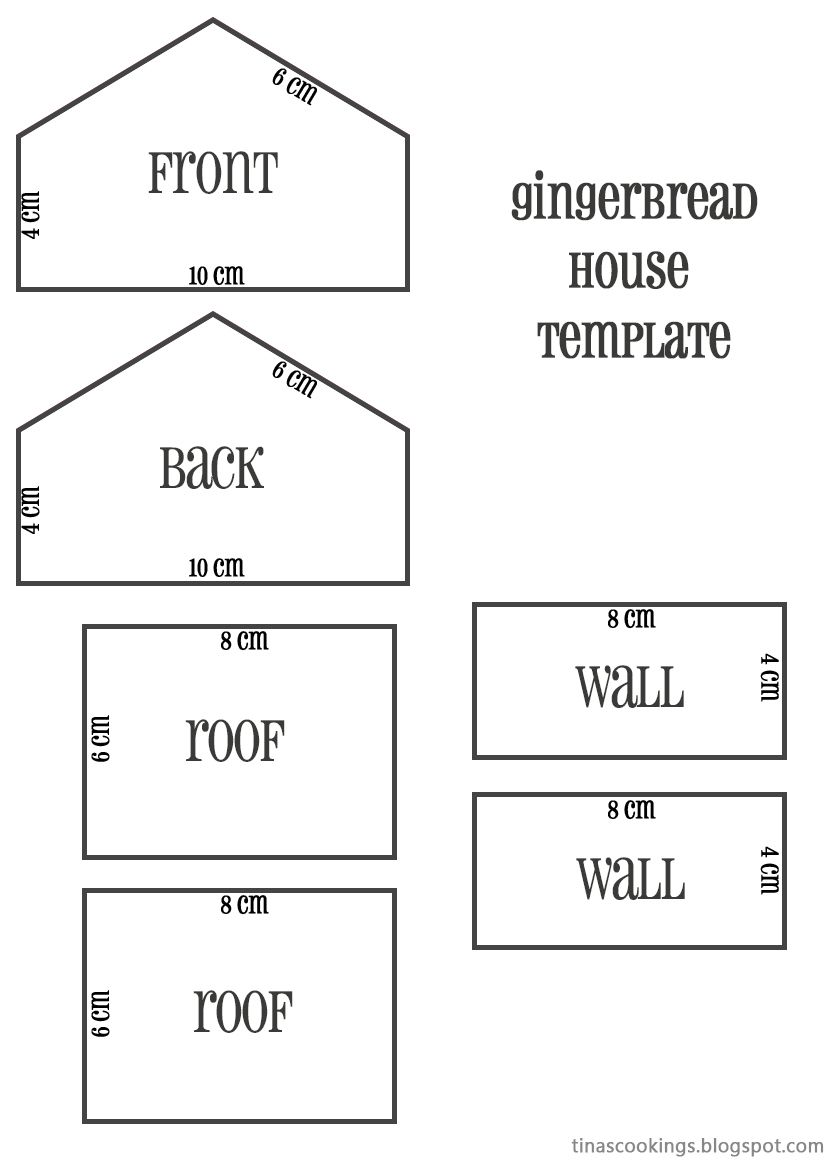 Gingerbread House Template Cm Gingerbread House Tinascookings Template Beaut With Images Gingerbread House Template Gingerbread House Patterns Homemade Gingerbread House
