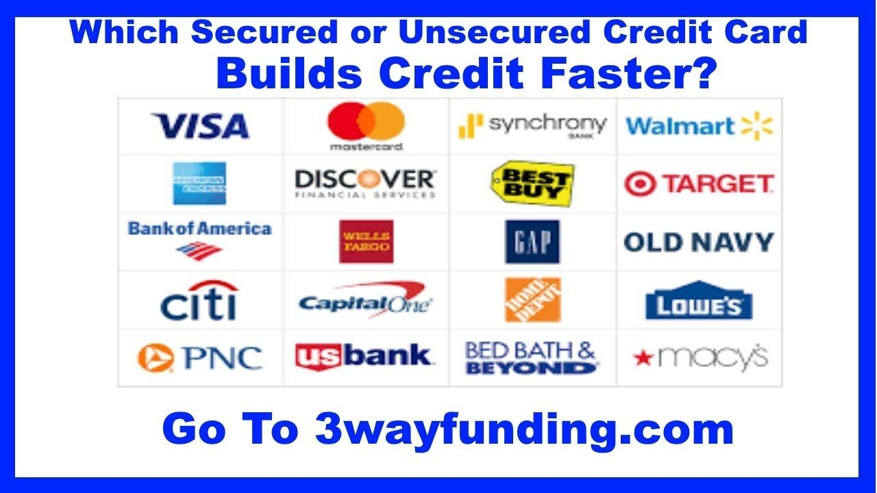 2018 2019 Best Secured Vs Unsecured Credit Cards To Build No Credit Or Unsecured Credit Cards Small Business Credit Cards Bad Credit Credit Cards