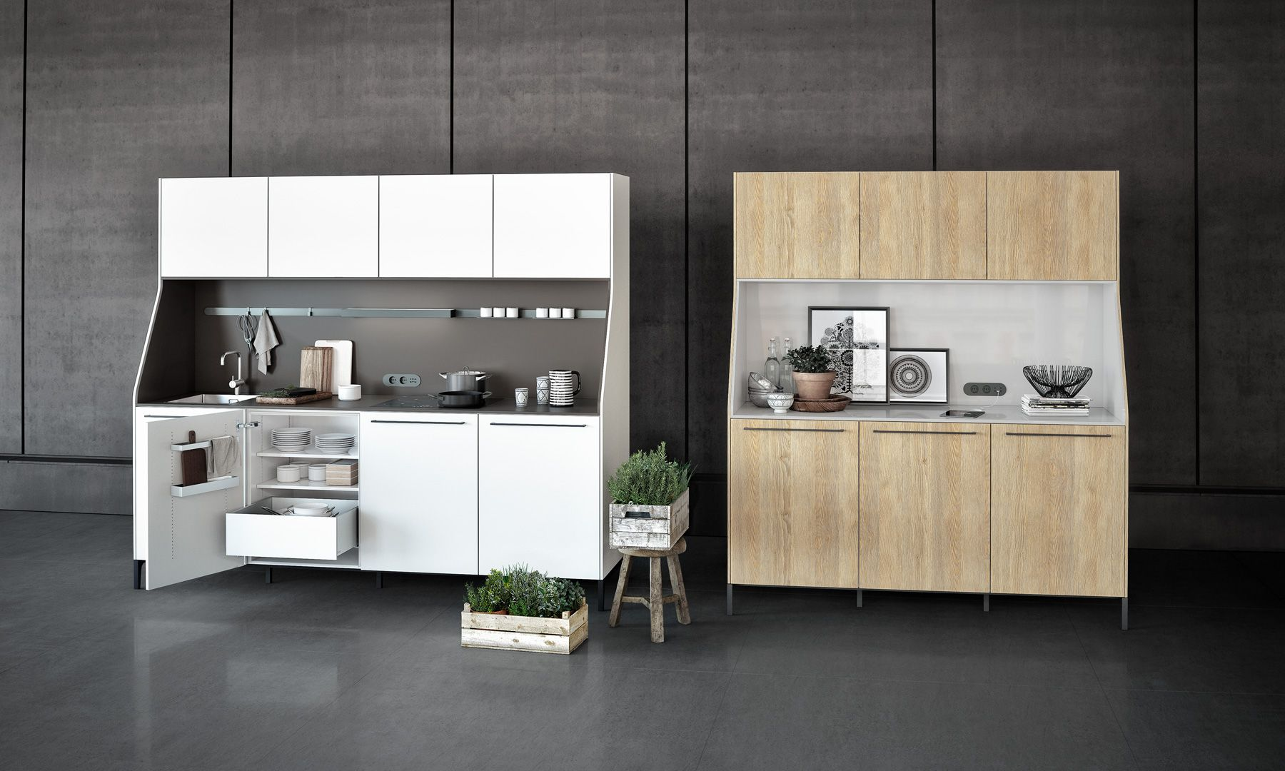 Compact kitchen modeled after a sideboard. Perfect for studio ...