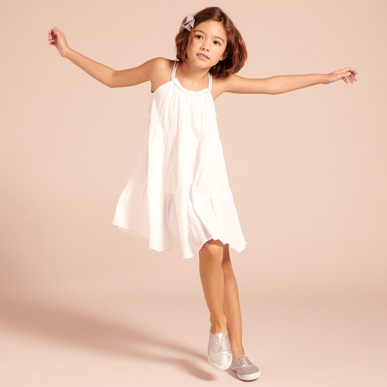 Beneras Dress - White - Girls Partywear - Girls 2-15YRS