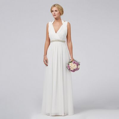 Debut Ivory Ava V Neck Wedding Dress