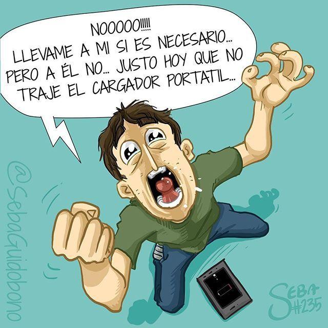 El amor de la gente por sus celulares esta cada vez peor... que miedo #SebaDibujando #dibujo #celular #cargador
