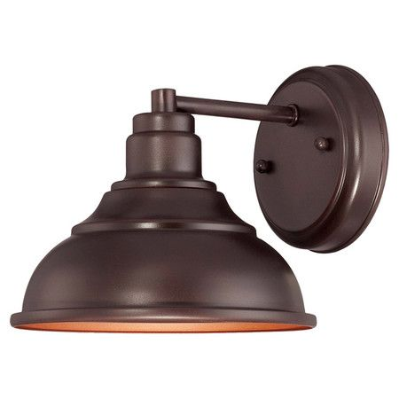 Welcome guests at the door or illuminate your patio with this handsome lantern, showcasing an English bronze finish and stepped detailing.  ...