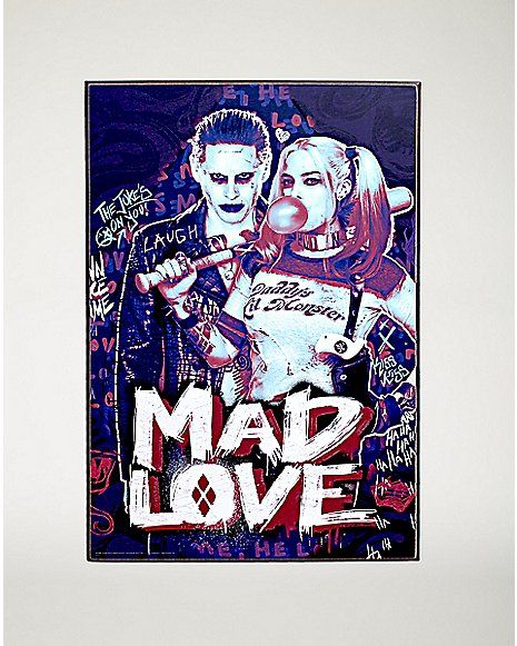 Mad Love Suicide Squad Wall Art - Spencer's