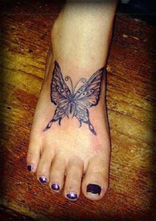 457928f9749e9 Butterfly Foot Tattoo, Butterfly Tattoo Designs, Tattoo Designs For Girls,  Ankle Tattoo Designs