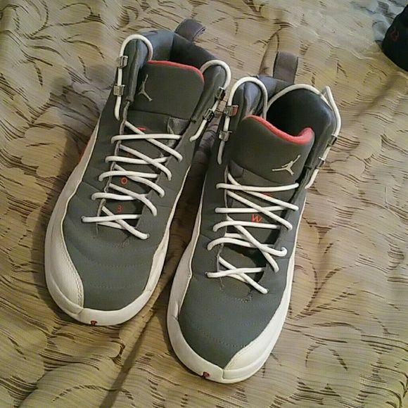 buy online e2980 bb56c Jordan 12s Grey orange Jordan 12s 7Y Jordan Shoes Sneakers
