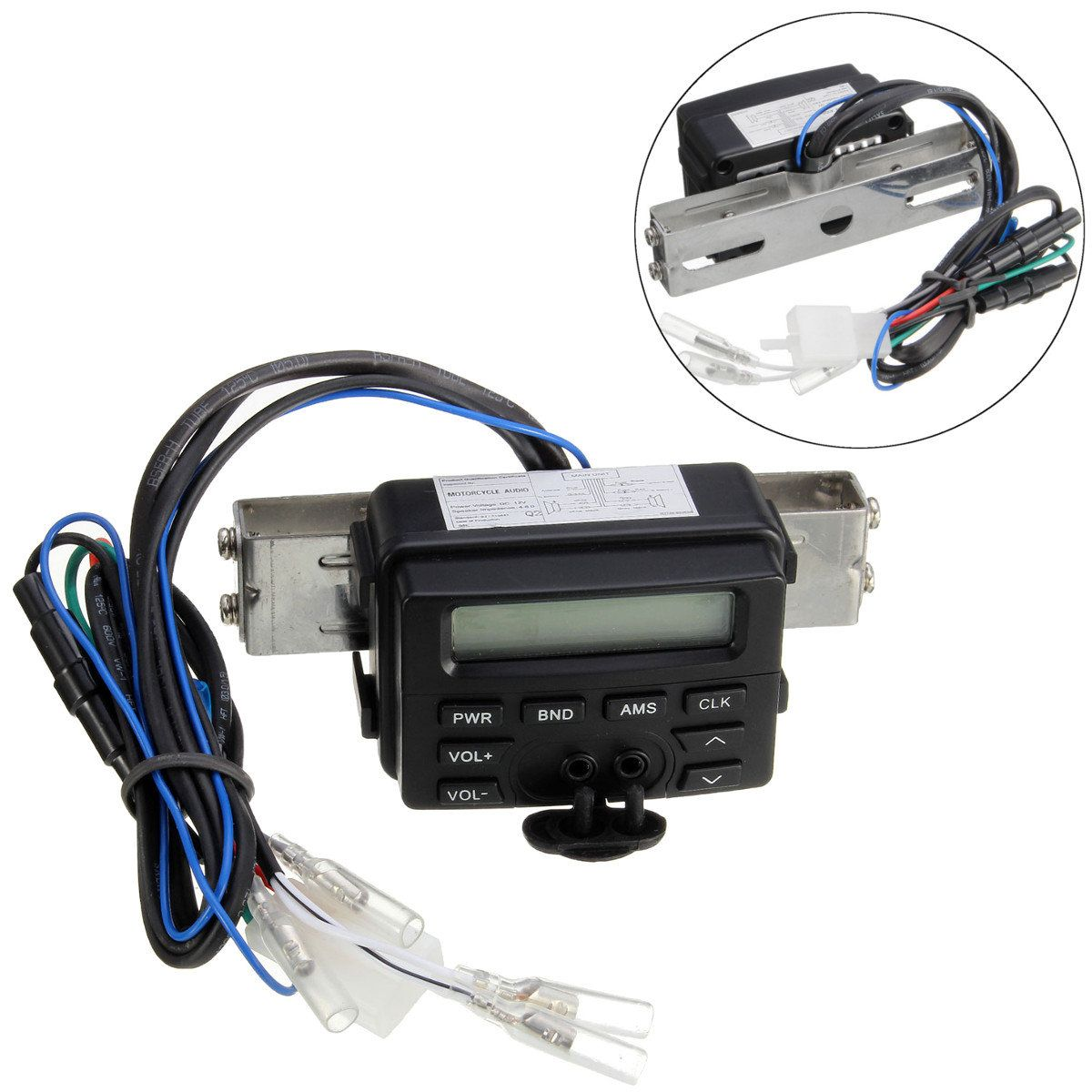 Motorcycle Audio FM MP3 Sound Stereo System Waterproof For Honda Cruiser