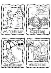 Four Seasons Coloring Page Printable … | Pinteres…