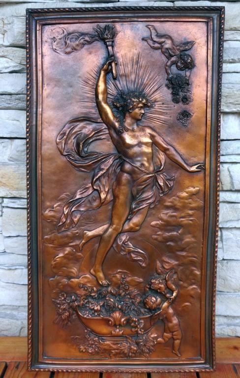 Stara Płaskorzeźba Antyk Prometeusz Bóg Ogień Ziem Antyky Relief