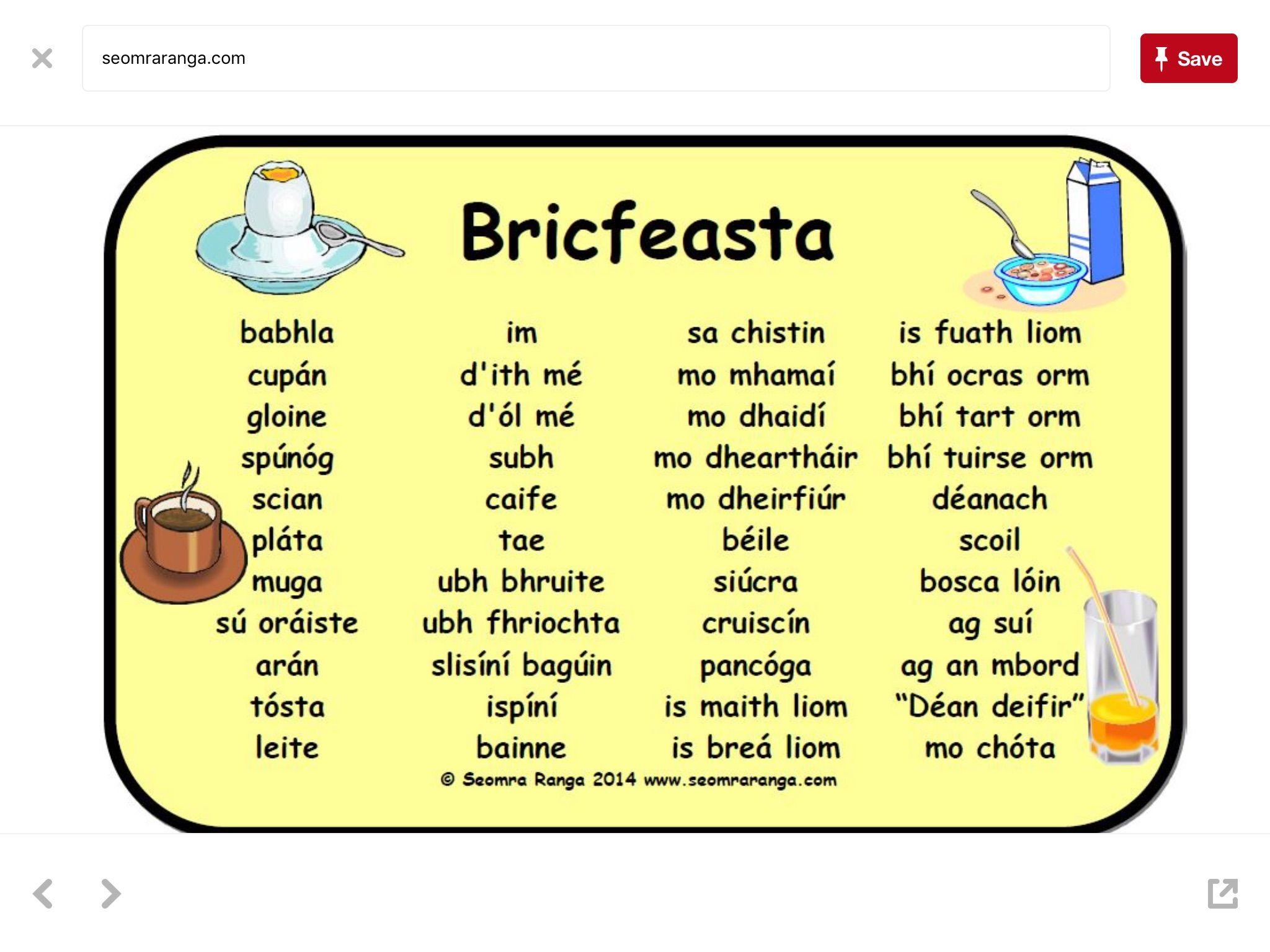 Gaeilge Obair Scriofa Gaeilge Irish Language Irish Gaelic