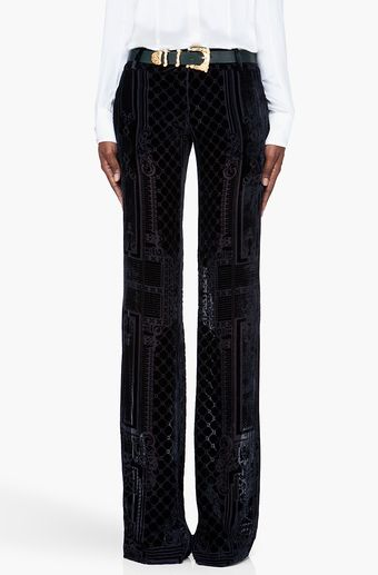 1069ca60cf Balmain Black Embroidered Wide Leg Pants - Lyst | FaShionITIs | Wide ...