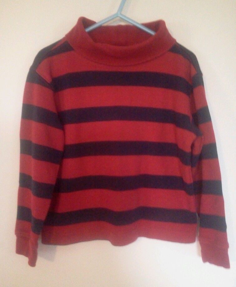 Boys Red & Navy Pullover Turtleneck Shirt by Driving Force 100% Cotton Size 4 #DrivingForce #DressyEverydayHoliday