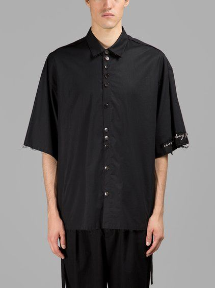DAMIR DOMA DAMIR DOMA MEN'S BLACK SHORT SLEEVES SHIRT. #damirdoma #cloth #shirts