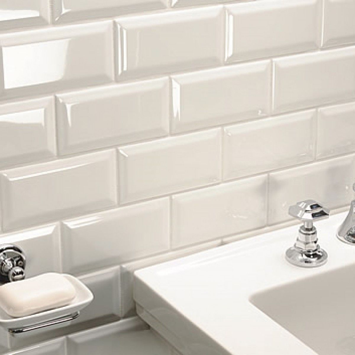 Crown Tiles Metro Hueso Bevelled Wall Tiles Crown Tiles Beveled Subway Tile Tile Bathroom Subway Tile