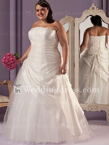 1000  images about plus size wedding dresses on Pinterest - A line ...