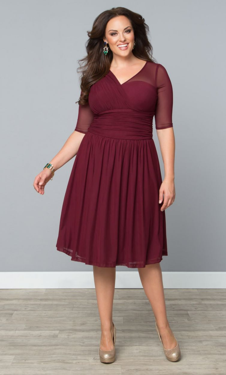 Modern Mesh Dress By Kiyonna In 2019 Plus Size Fashion