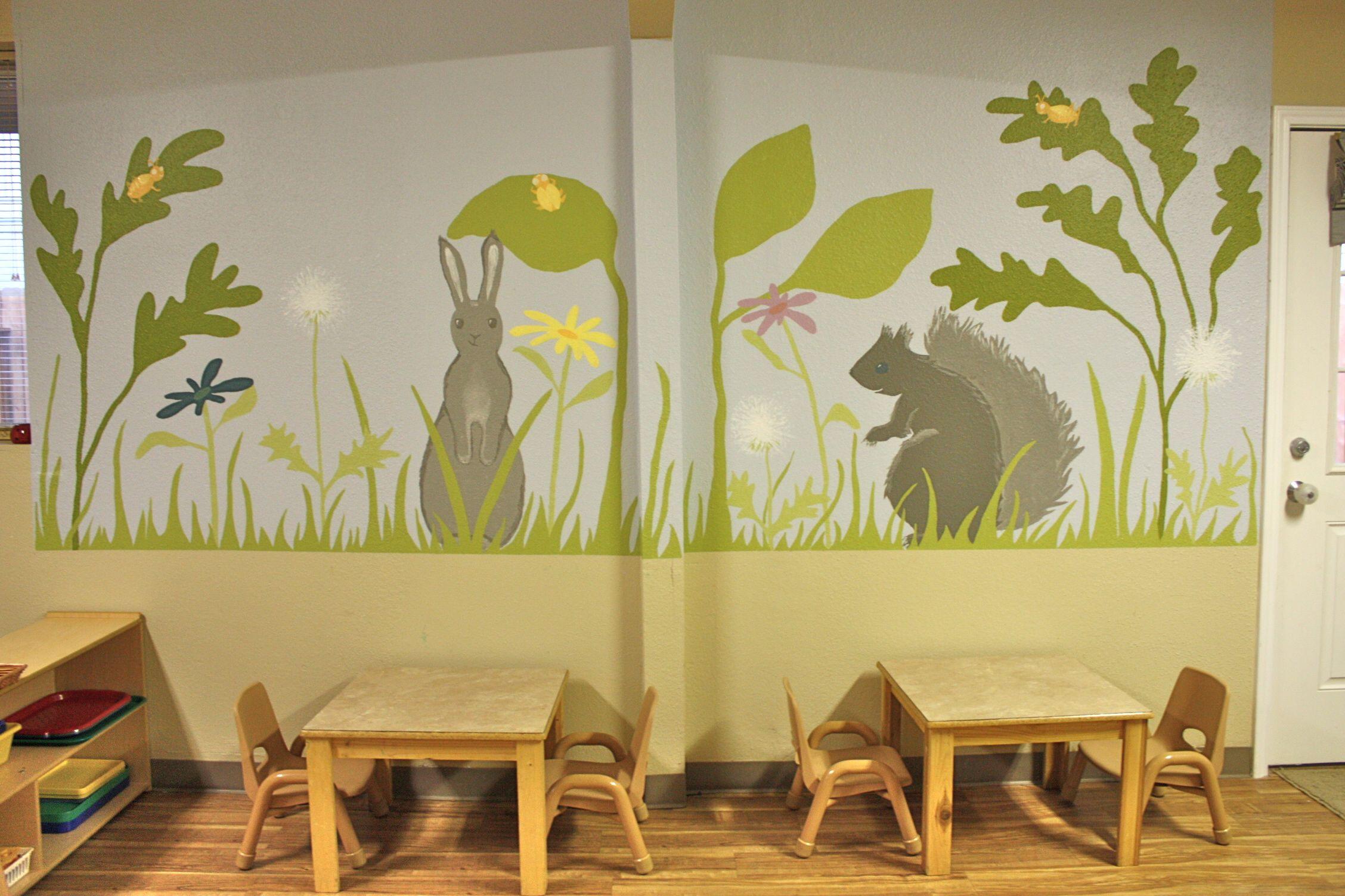 Preschool garden mural | Avery O Design | Murals | Pinterest ...