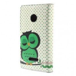 Lumia 532 vihreä pöllö puhelinlompakko