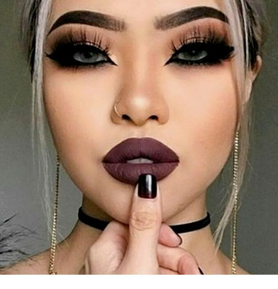 Easy Halloween Make Up Nice Ladies Black Eye Makeup Nose Makeup Eye Makeup