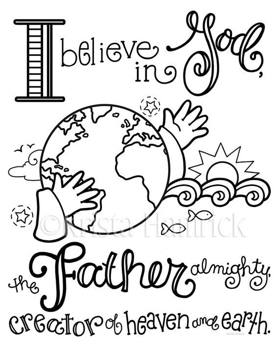 Apostles Creed Memory Coloring Collection Includes 9 Coloring