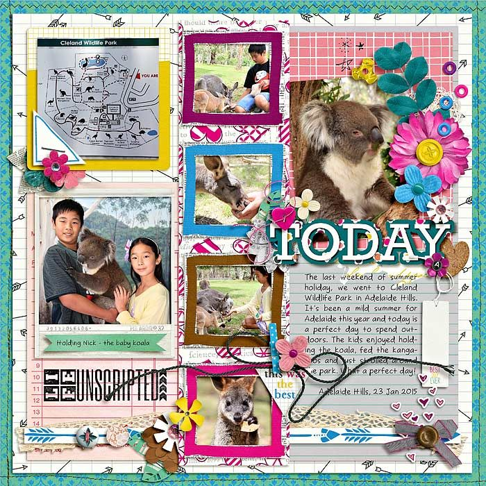 singleton 13 - today by brook magee best day ever by brook magee & studio basic designs photostamps : everyday - set 2 by cindy schneider
