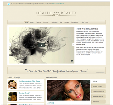 Health & Beauty Theme