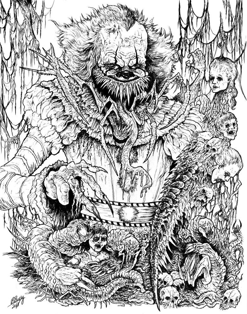 Pennywise The Devourer This Is The Gory Pennywise I Ve Been Irking To Make For Sometime Now And I Ha Coloring Pages For Kids Coloring Pages Fox Coloring Page