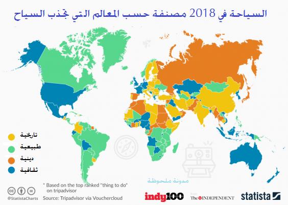 خريطة العالم السياحية Trip Advisor World Map