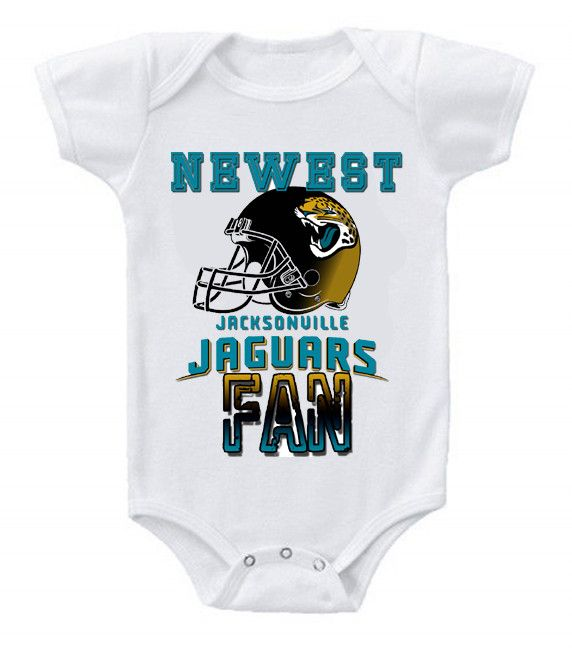 8190d881 NEW Football Baby Bodysuits Creeper NFL Jacksonville Jaguars ...