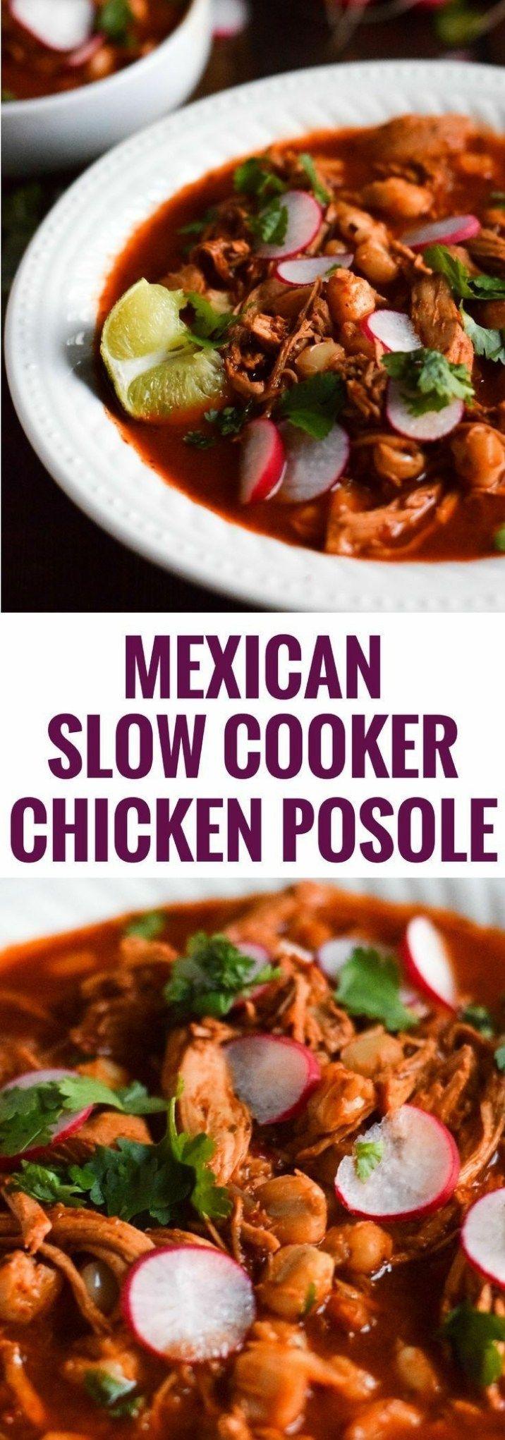 Slow Cooker Chicken Posole