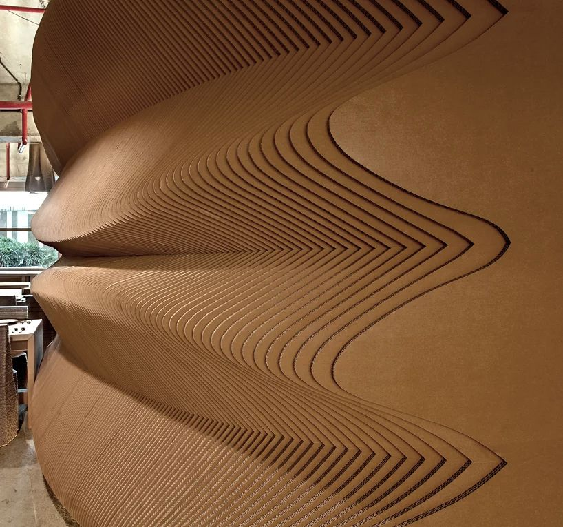 Mumbai cafe interiors are made with cardboard Cafe