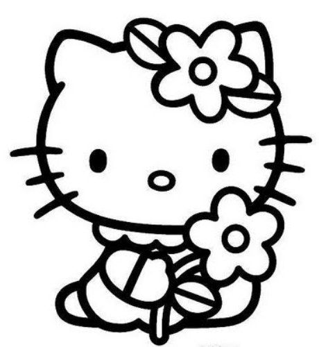 Hello Kitty Logo Black And White Hello Kitty Coloring Hello Kitty Colouring Pages Kitty Coloring