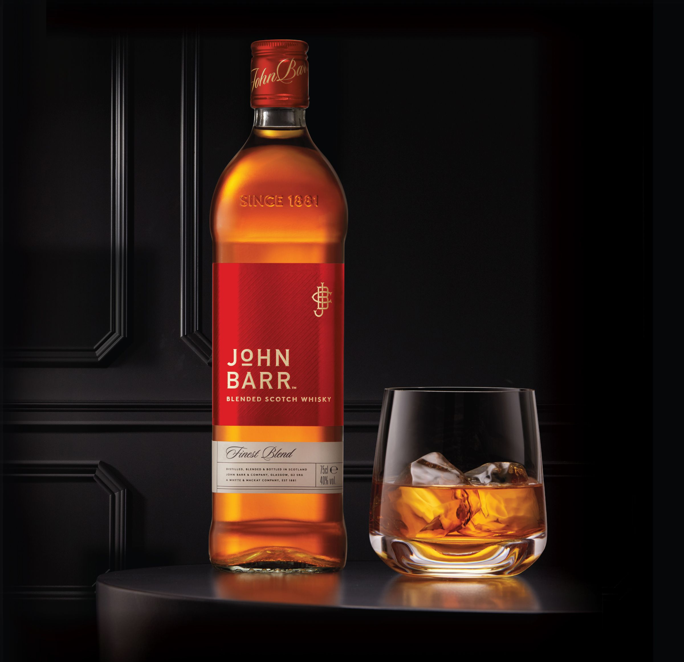 John Barr Whisky The Dieline Branding Packaging Design Whisky Bottle Whisky Packaging Whisky