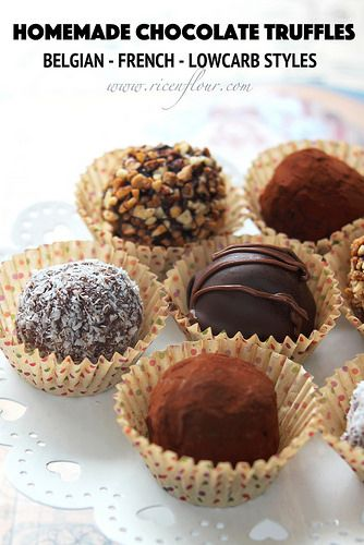 how to make chocolate truffles with filling