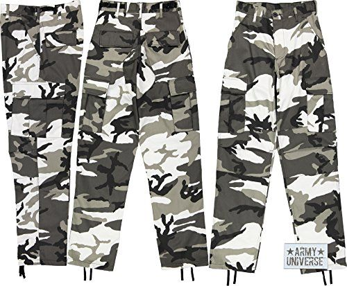 Army Universe Mens Urban City Camo Black White Camo Metro Urban Cargo Pants  Military BDU Fatigues With Pin  pant  menspants  jeans  clothing  fashion 24f139ce9ab