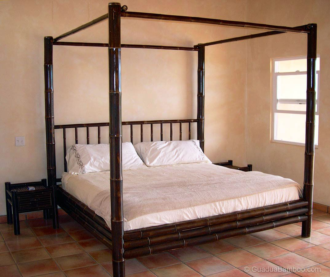 tamarindo bamboo canopy bed
