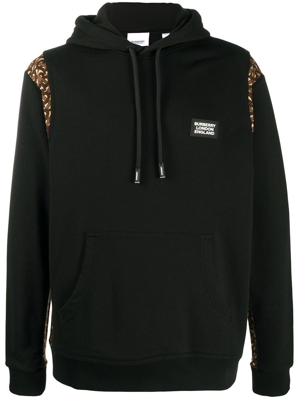 Burberry Logo Patch Drawstring Hoodie Farfetch Hoodies Denim Jacket Patches Drawstring Hoodie [ 1334 x 1000 Pixel ]