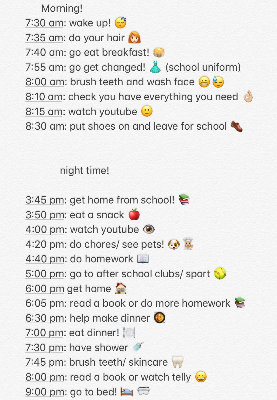 This Is My Daughters 12 Years Old Night Routine And I Hope This Helps Middle Morning School Routine For Teens School Night Routine Morning Routine School